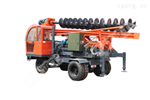 全液压履带式打桩机 全液压不用电 小型螺旋打桩机
