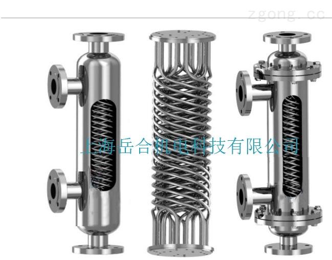 90度夹角的螺旋螺纹管式换热器